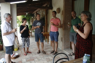 Teilnehmer beim Aperitiv