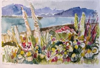 Aquarell: Blumenmeer
