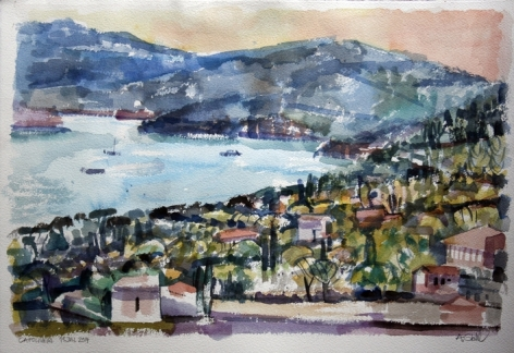 Aquarell: Elba, Capoliveri 2014