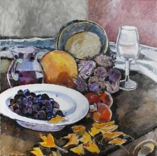 Ölbild: Früchte des Herbstes
