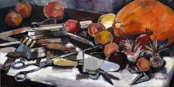 Werkzeug und Früchte