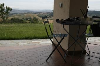 Foto: Blick von der Terrasse