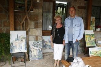 Foto bei Malkurs unter der Veranda