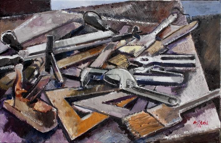 Stillleben: Werkzeuge kubistisch 2013