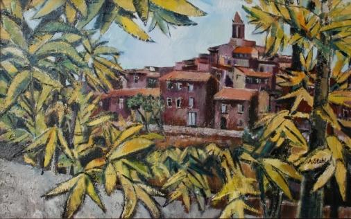 Ölbild: Toskana Landschaft