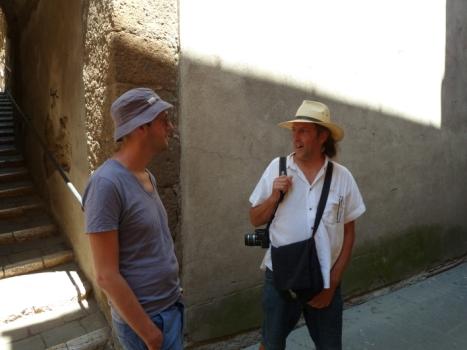 Arne Stahl beim Ausflug (rechts)