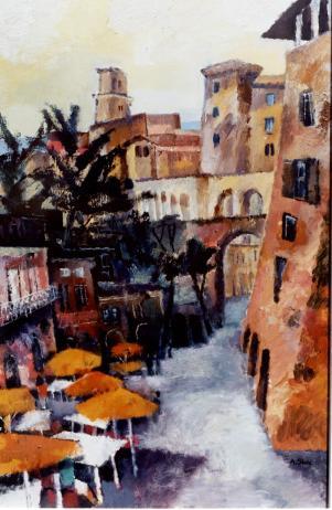 Ölbild: Pitigliano