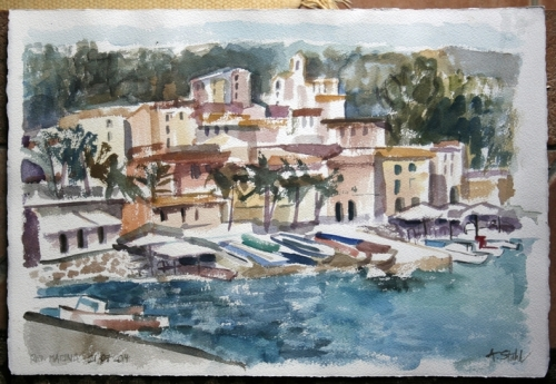 Aquarell Rio Marina, Elba 2014