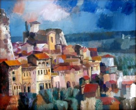 Ölbild: Roccalbegna, Privatbesitz