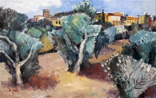 Ölbild: Ölbaumkultur