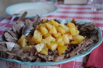 """Spanferkel """"toskanische Art mit Ofenkartoffeln"""""""