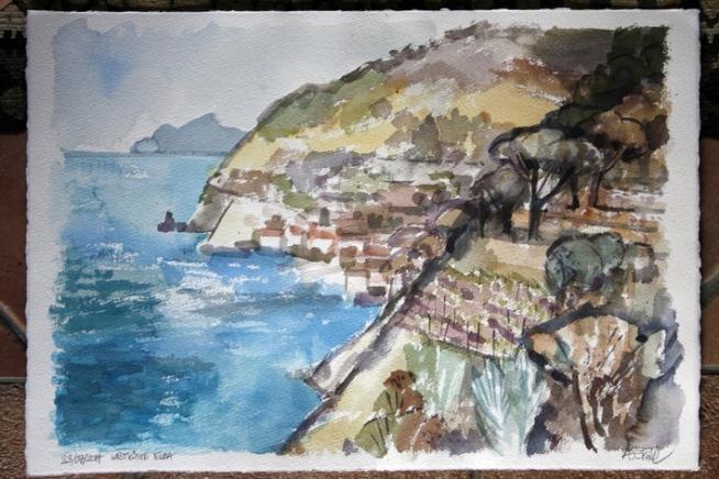 Aquarell Westküste Elba