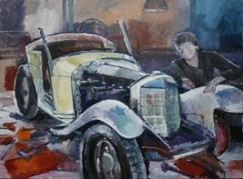 Ölbild von Mercedes SSK 1927