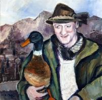 Foto: Mann mit Ente