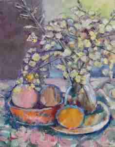 Foto Ölbild Blütenzeig