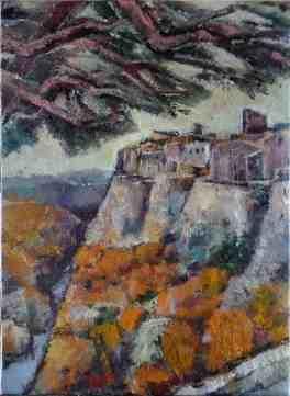Foto voM Ölbild etruskische Stadt