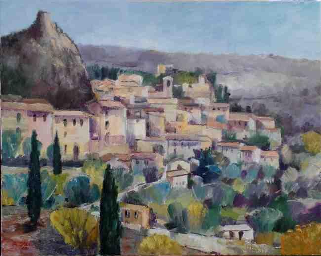 Foto Ölbild Rocca im Sommer
