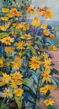Foto Ölbild Topinambur