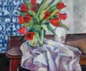 Foto Ölbild Tulpen
